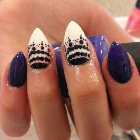 Mountain peak shape  my nails made by me  Nails Acrylic Nails Acrylic nail shapes