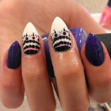 mountain peak shape nails
