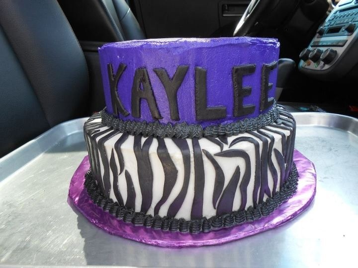 Purple Zebra Cake For A Young Girl Turning 12 White Chocolate Made 8 11