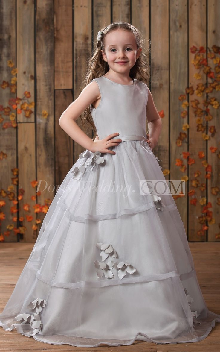 Glam Sleeveless A-Line Flower Girl Dress With Pleats and Button, Cute Dress for Flower Girl, Baby Girl Dress, This cute flower girl  made of lovely tulle fabric will prove to be a wonderful addition to your little girl's special occasion wardrobe. Perfect for birthday dresses, wedding party dress, girl wedding dress. #juniordress #bridesmaid. #DorisWedding.com