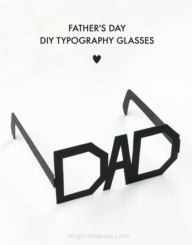 Father's Day DIY Typography Glasses by Mr Printables