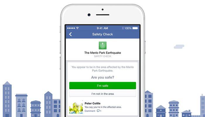 Stai bene ? Dillo con Facebook #safetycheck