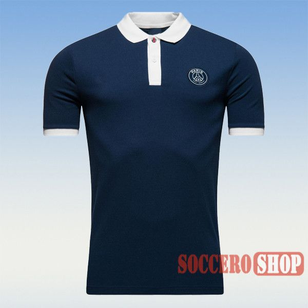 Cool Promotional PSG Paris Saint Germain 2016 2017 Navy Blue Mens Collared Polo  Shirt Slim Fit