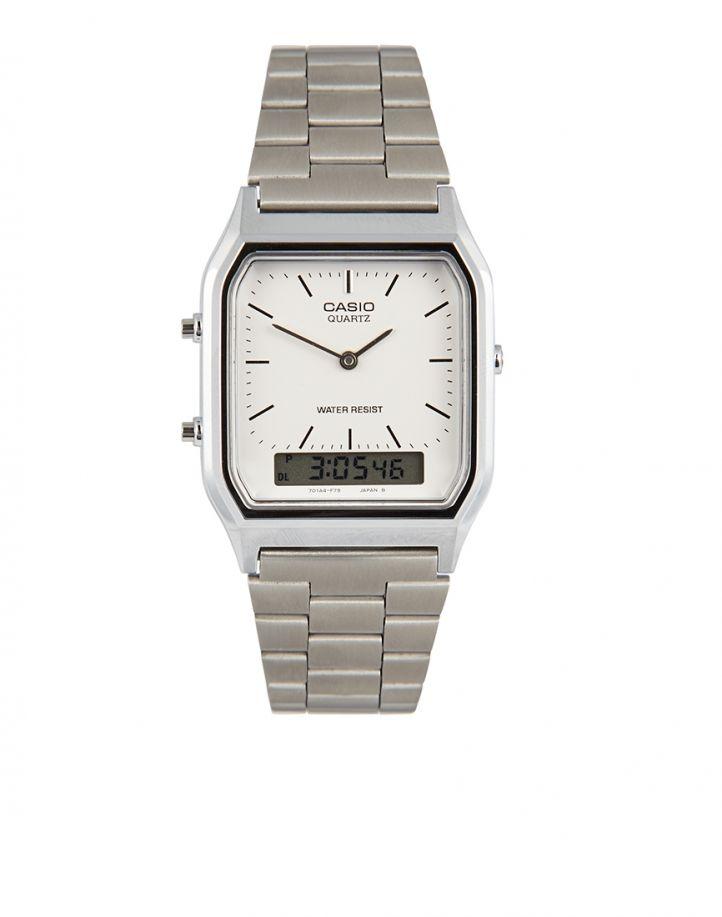 Casio AQ-230A-7DMQYES Digital Bracelet Watch - Silver - Silver