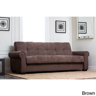 Abbyson living monte carlo fabric sofa for Sofa bed overstock