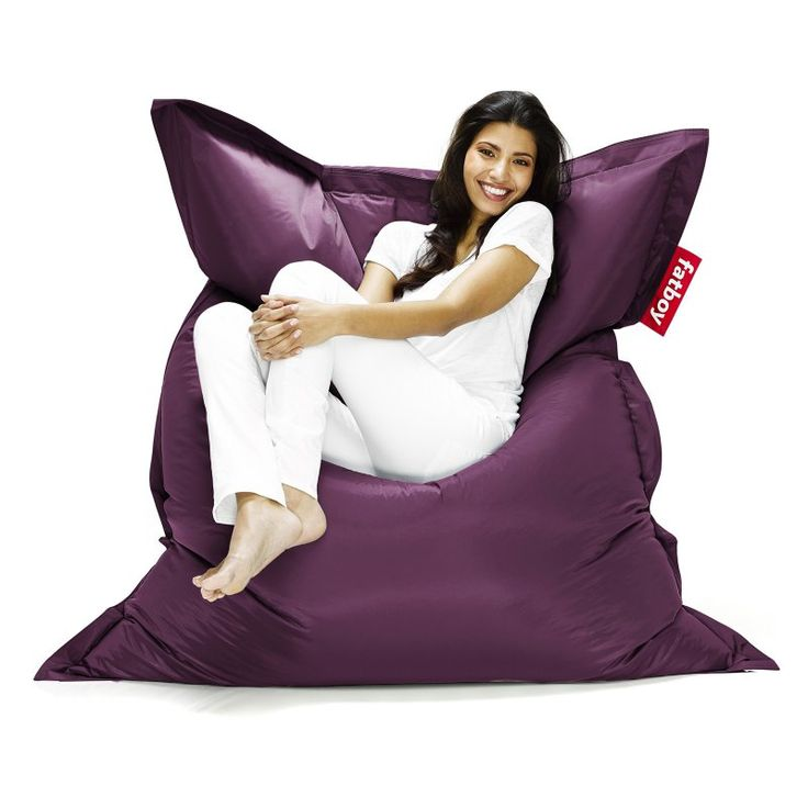Fatboy Original 6-Foot Extra Large Bean Bag Chair Dark Purple - ORI-DKP