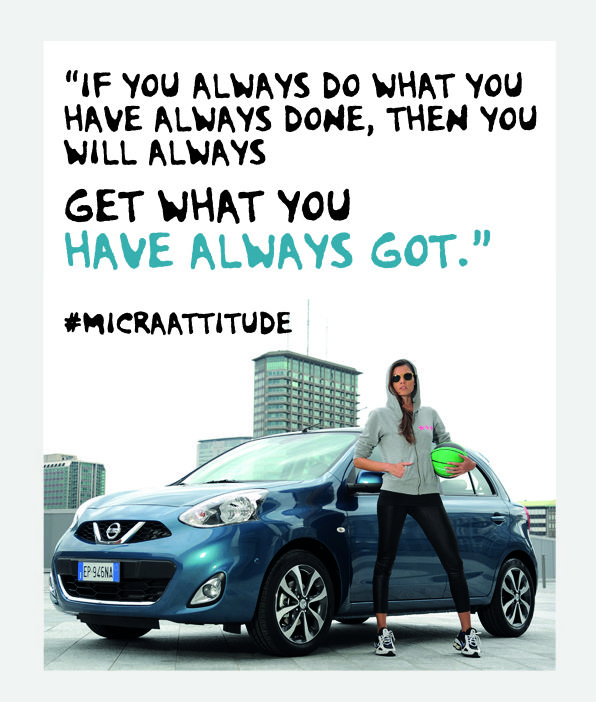 Continue to push yourself. #MicraAttitude #Competition #Contest #Nissan #Micra #Car #Lifestyle #Woman #Women #Attitude #Quote #Caption #Sport #Style #Confidence #Intelligence #Design #Technology #Fitness