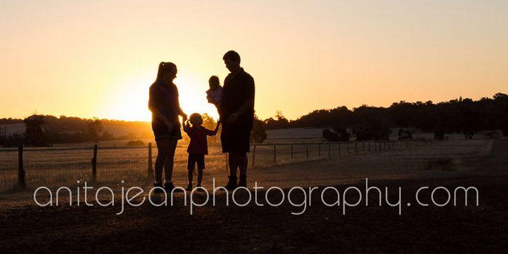 Photographs of farming families on their farms.