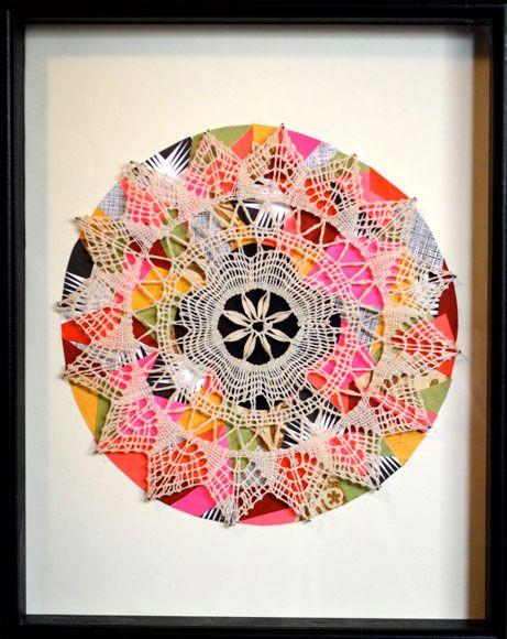 displaying doilies by Lisa Congdon
