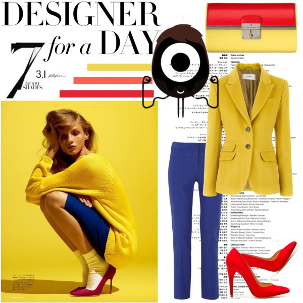 Blazer..Style Watches, Someday Style, Style Inspiration, Spring Summe Style, Blue Pants, Colors Combinations, Blazers, Fashion Polyvore, Polyvore Sets