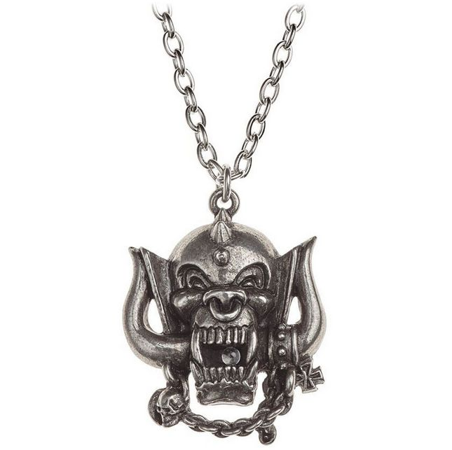 MOTORHEAD War-Pig Pendant Necklace   #motorhead #warpigs #rockabilia #licensedmerchandise #merchandise #merch #necklaces #dogtags #metalchain