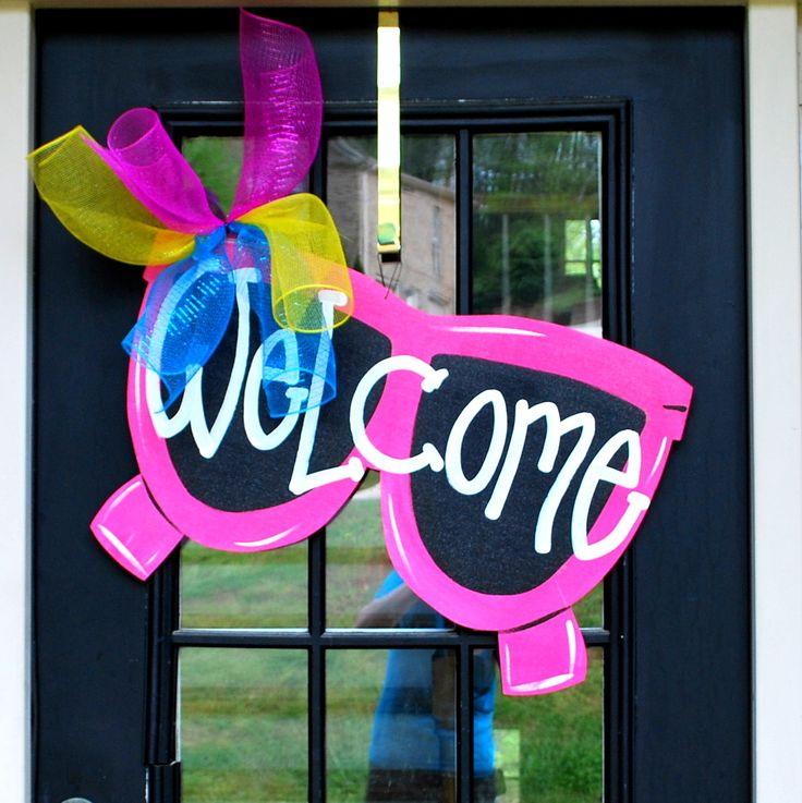 Summer Door Hanger Sunglasses Door Decoration by LooLeighsCharm, $45.00