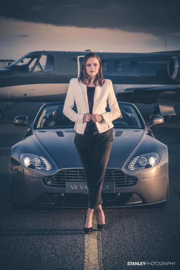 Photoshoot for Aston Martin Denmark // Model: Malene // Photo: Stanley Photography