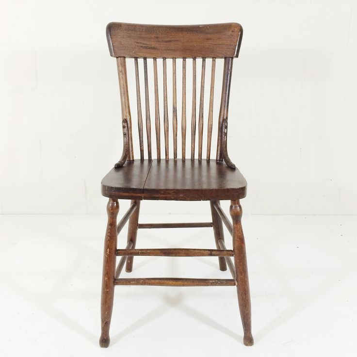 "Single Spindle Chair 34.5""h x 17.5""w x 16""d, 17.5""h to seat"