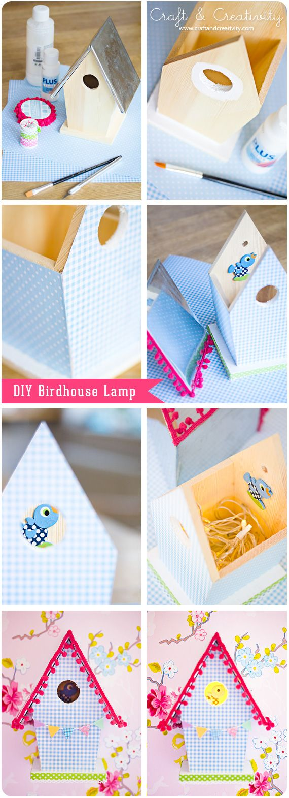 Night lights baby bunting - Diy Birdhouse Lamp With A Washi Tape Bunting