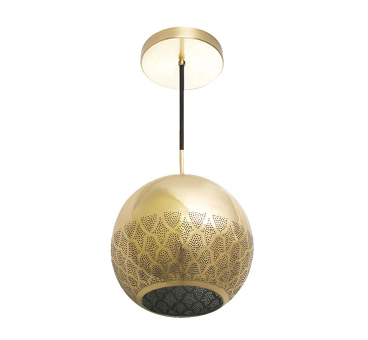 Buy NUR REVERSED PENDANT LIGHT - COPPER by Dounia Home - Made-to-Order designer Pendants from Dering Hall's collection of Contemporary Industrial Mid-Century / Modern Transitional Lighting.