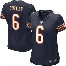 Women's Nike Chicago Bears #6 Jay Cutler Elite Team Color Blue Jersey $129.99