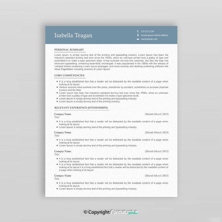 15 best Modern Resume Templates images on Pinterest Microsoft - visually appealing resume
