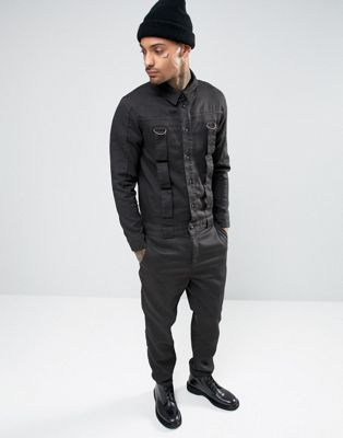 ASOS - TUTA NERA CON CINTURINI #fashion #trend #style #onlineshop #shoptagr