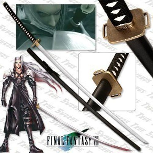 Final-Fantasy-Masamune-Sephiroth-039-s-Sword-68-034-With-Wooden-Stand