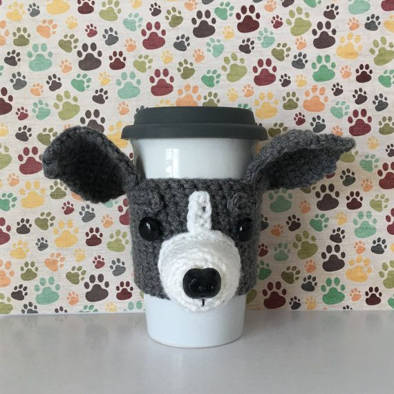 Italian Greyhound Mug Cozy - Greyhound Items - Italian Greyhound Decor - Italian Greyhound Mom - Greyhound Gifts - Dog Themed Gifts