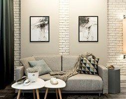 MIESZKANIE POD KRÓTKOTERMINOWY WYNAJEM - 38M2 - RAKOWICKA KRAKÓW - Mały salon, styl eklektyczny - zdjęcie od MANGO Studio Architektury Wnętrz i Ogrodów