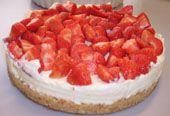 Monchou taart met aardbeien