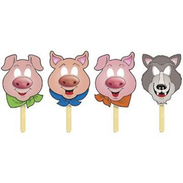 Fairy Tale Crafts Printable | Teacher's Friend Fairy Tale Masks; Three Little Pigs
