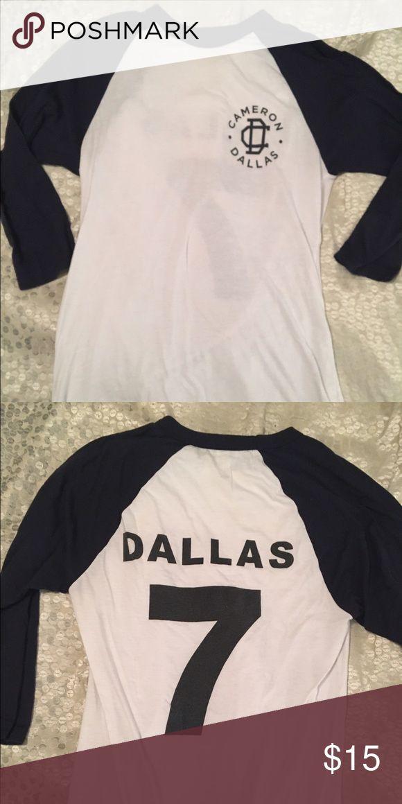 Cameron Dallas baseball tee Cameron Dallas baseball tee shirt Cameron Dallas Tops Tees - Short Sleeve