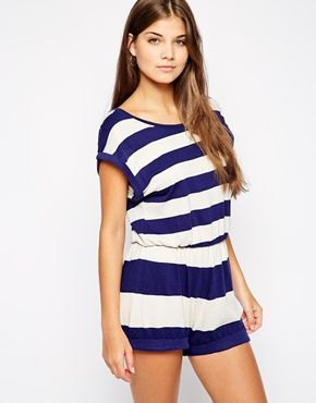 French Connection Sun And Sea Stripe Beach Playsuit