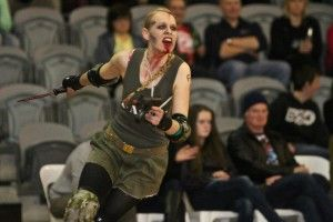 Sister Strychnine. Skater Profile. Best derby make up ever. Made a little girl cry...oops.