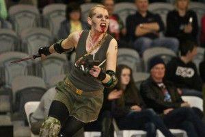 Sister Strychnine. Skater Profile. Best derby make up ever. Made a little girl cry...oops.