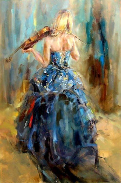 Dance with a Violin -  Anna Razumovskaya.