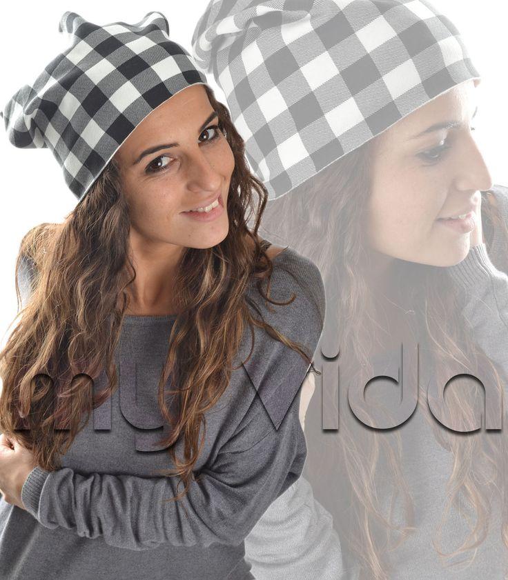 #Cappello donna #berretto cappelletto fantasia #scozzese lungo Donna: #accessori, #Cappelli