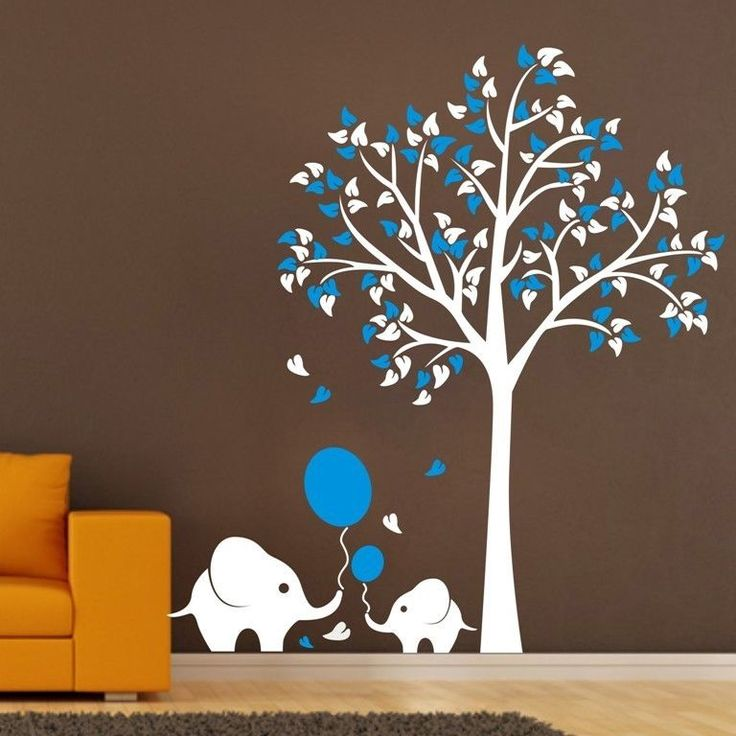 3267 best landscape wall stickers images on pinterest wall large elephant tree wall stickers kids nursery home wall decals art mural decor home gumiabroncs Choice Image