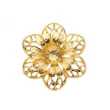 15pcs/lot 60mm Gold Plated Metal Filigree Flower Wraps Connectors Charms Embellishment Jewelry Findings F2506(China…