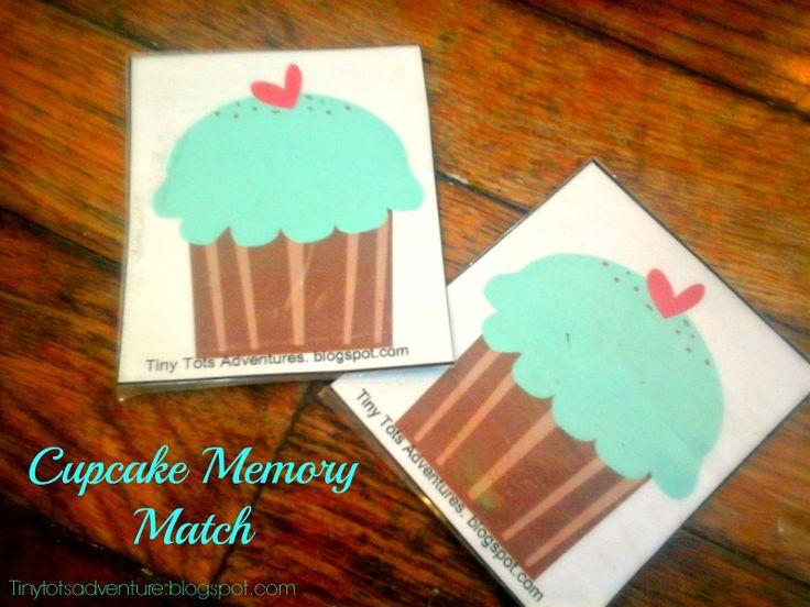 Tiny Tots Adventures: Cupcake Memory Match