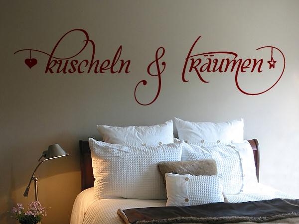 Schönes Wandtattoo fürs Schlafzimmer.