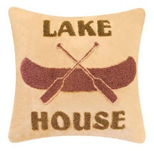 Cabin Nights Lake House Hooked Throw Pillow: Cabins Night, Accent Pillows, Lakeside Cottages Decor, Design Interiors, Night Lakes, Lakes Houses, Cabins Ideas, Pillows Luxury Houses, Throw Pillows