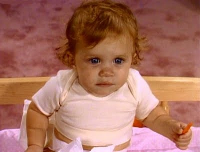 Baby Michelle Tanner from Full House (Mary Kate or Ashley?)