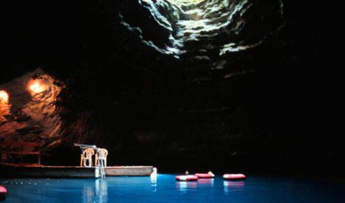 Homestead Crater's underground pool, Midway, Utah