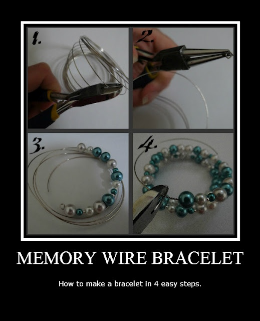 Memory Wire Bracelet--Could see doing this as a teen or adult craft