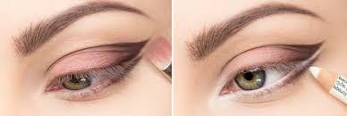 макияж, косметика, белый карандаш глаза