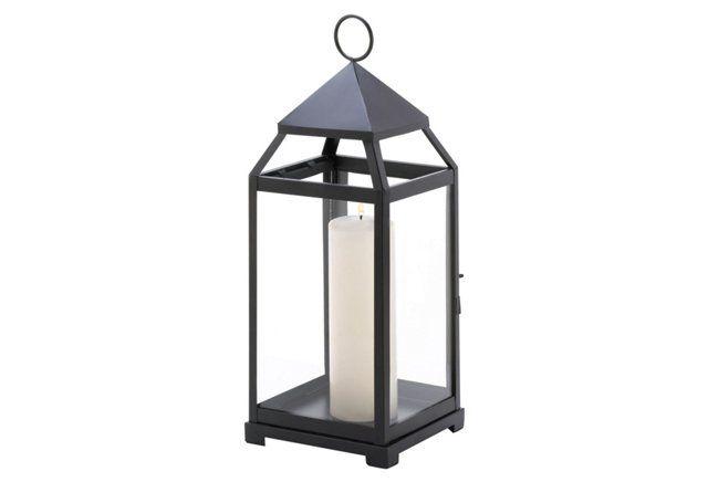 "S/2 18"" Contemporary Lanterns, Black"