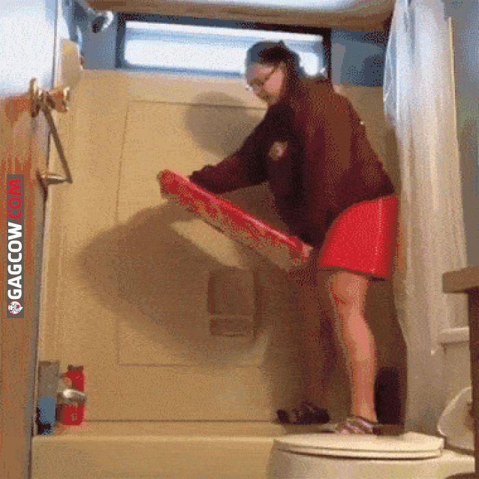 Bathroom Surfing