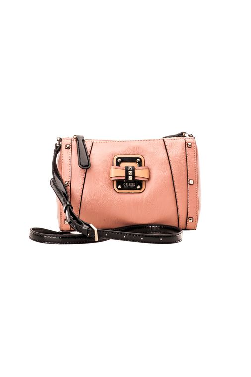 Guess Ellese Crossbody Top Zip, pink gloss 69,00 € www.fashionstore.fi