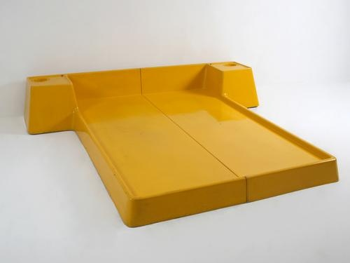 Marc Held; Molded Plastic Bed for Prisunic, 1970.