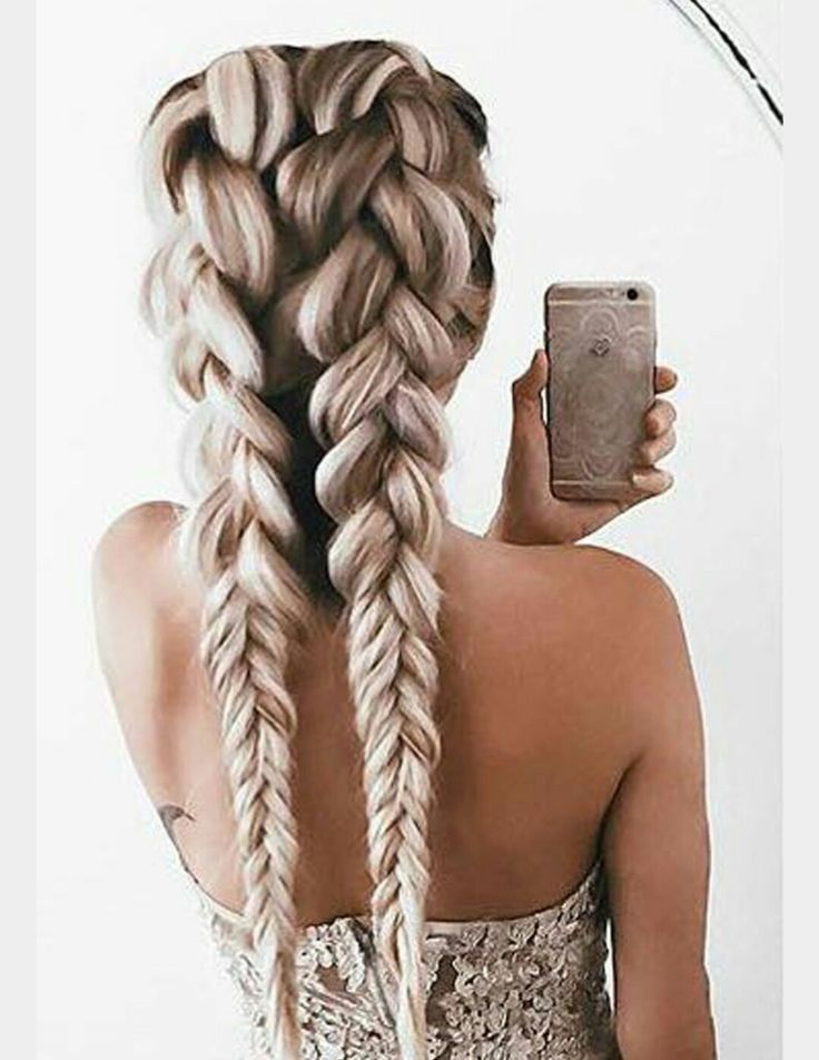 Double braid hairstyles. I'm loving braids right now.