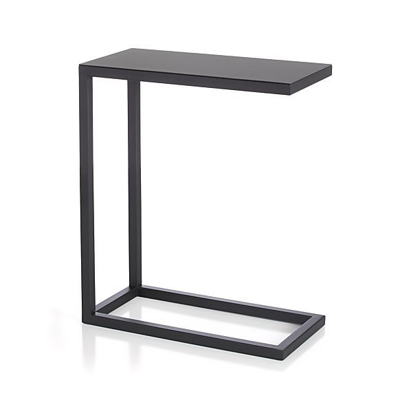 To pull up to sectional for your coffee or wine without having to lean forward! Avenue Black C Table    Crate and Barrel