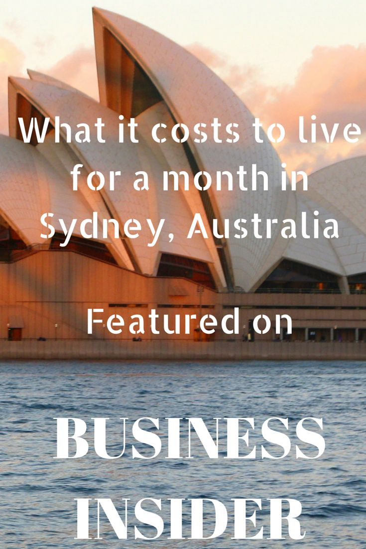 What it costs to live for a month in Sydney, Australia #Sydney #Australia #BusinessInsider #travel